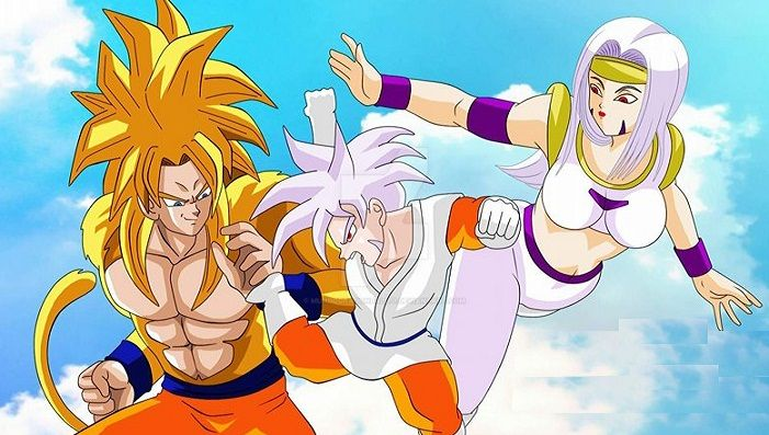 Goku Kinoto y Nean by MundoDragonBall77