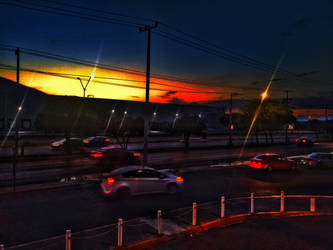 Sunset at the street by TheLittleMexicanDraw