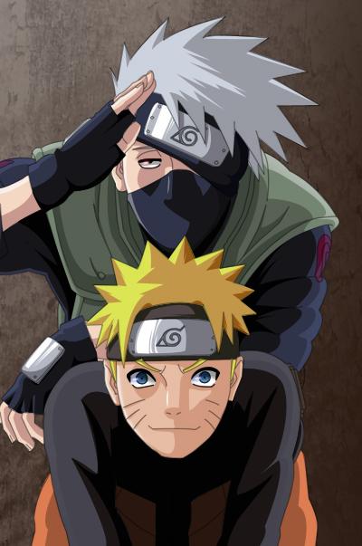 Naruto Colorido ~ Naruto e Kakashi Colorido by ADMUlielson on DeviantArt