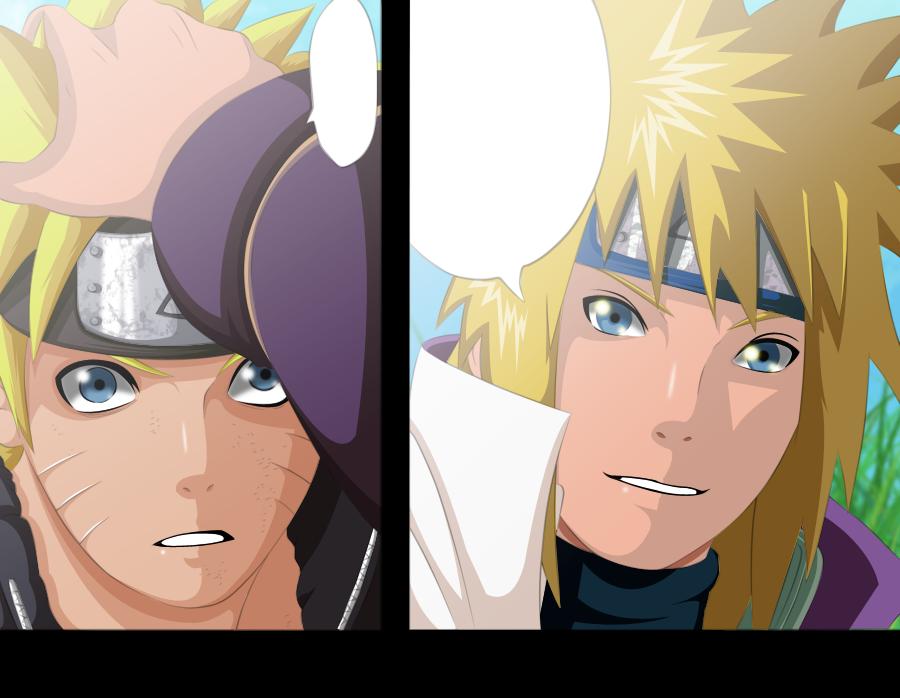 Naruto Colorido ~ Naruto e Minato Namikaze hokage Colorido by ADMUlielson on DeviantArt