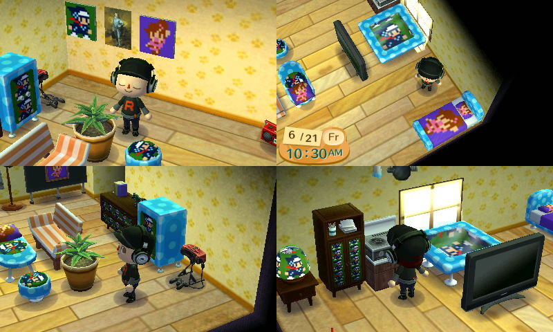 My Animal Crossing New Leaf House By Duskus On Deviantart