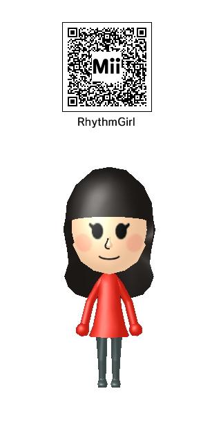 Rhythm Heaven Fever Girl Mii QR by Duskus