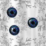 Eye Textures- Blue Rainbowed