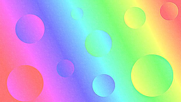 Background- Rainbow Bubbles
