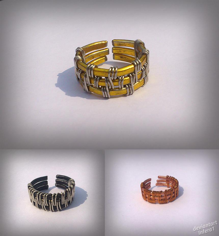 Wowen wire rings by Infera1