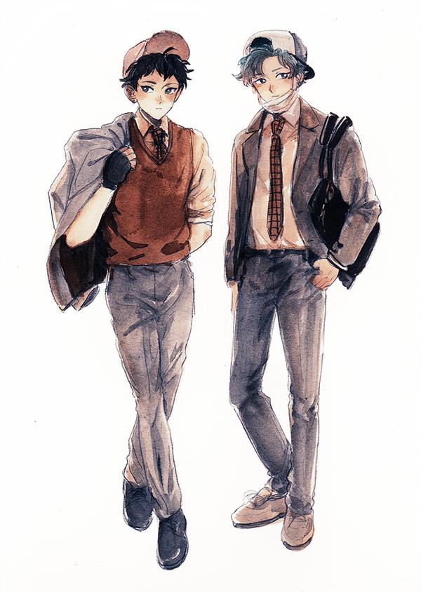 fashionable school boys by b-snippet