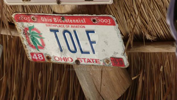 Ohio License Plate 3