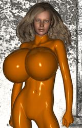 Orange Bimbo Mannequin Suit 3 by chimatronx