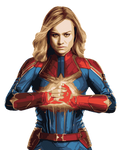 Captain Marvel Vector Art 9