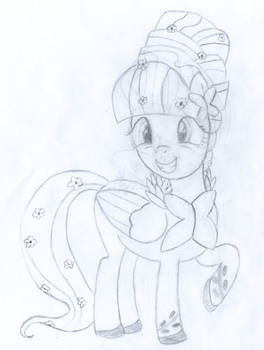 Fluttershy Getting Dressed Up