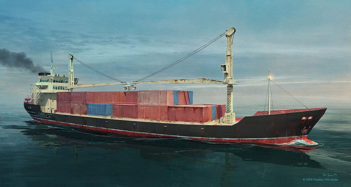 Cargo ship by Jett0