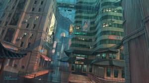 Nightfall City concept by Jett0