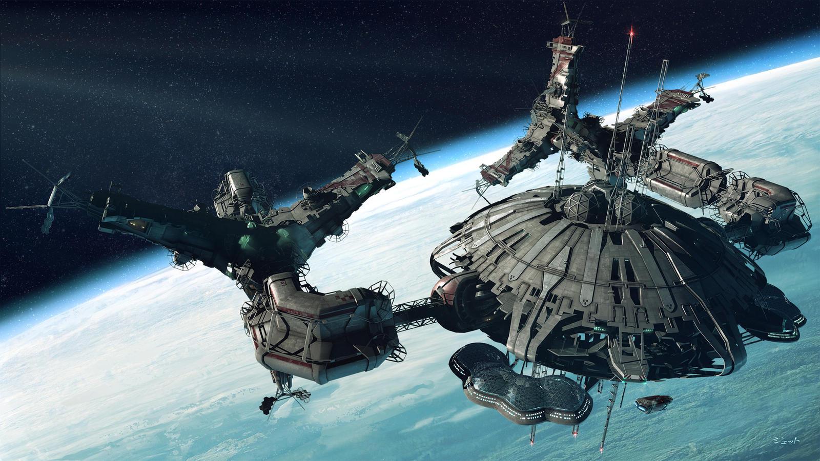 space station by Jett0 on DeviantArt