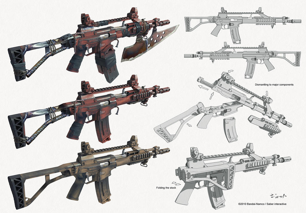 assault rifle concept by Jett0