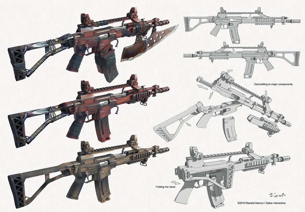 assault rifle concept by Jett0