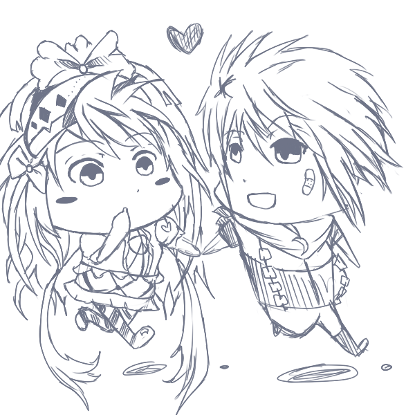 Chibi Boy and Girl Sketch (Request) by InsertHumor on ...