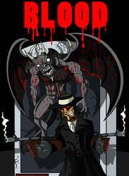 Blood comic- Cover art by MechanicalFirefly