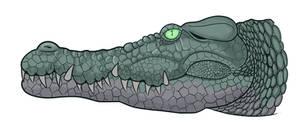 Saltwater Crocodile by MechanicalFirefly