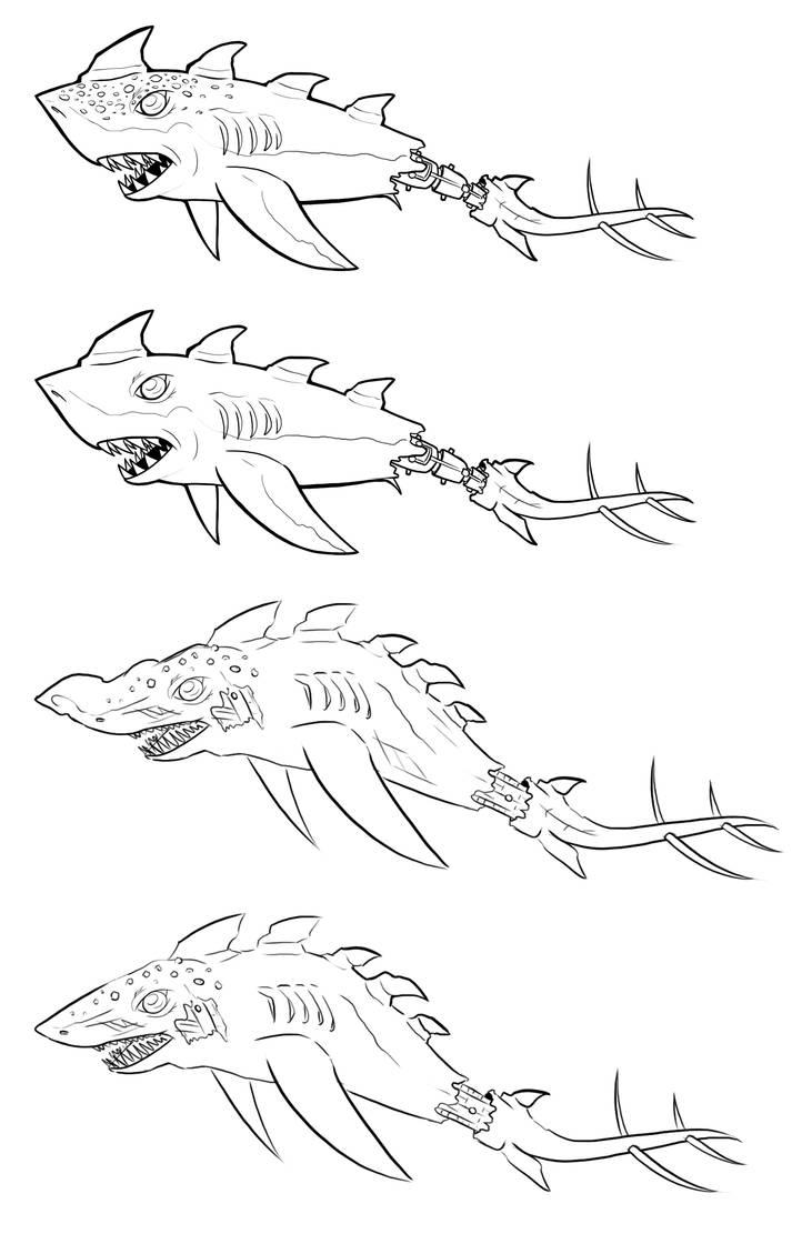 Barracuda Concepts by MechanicalFirefly