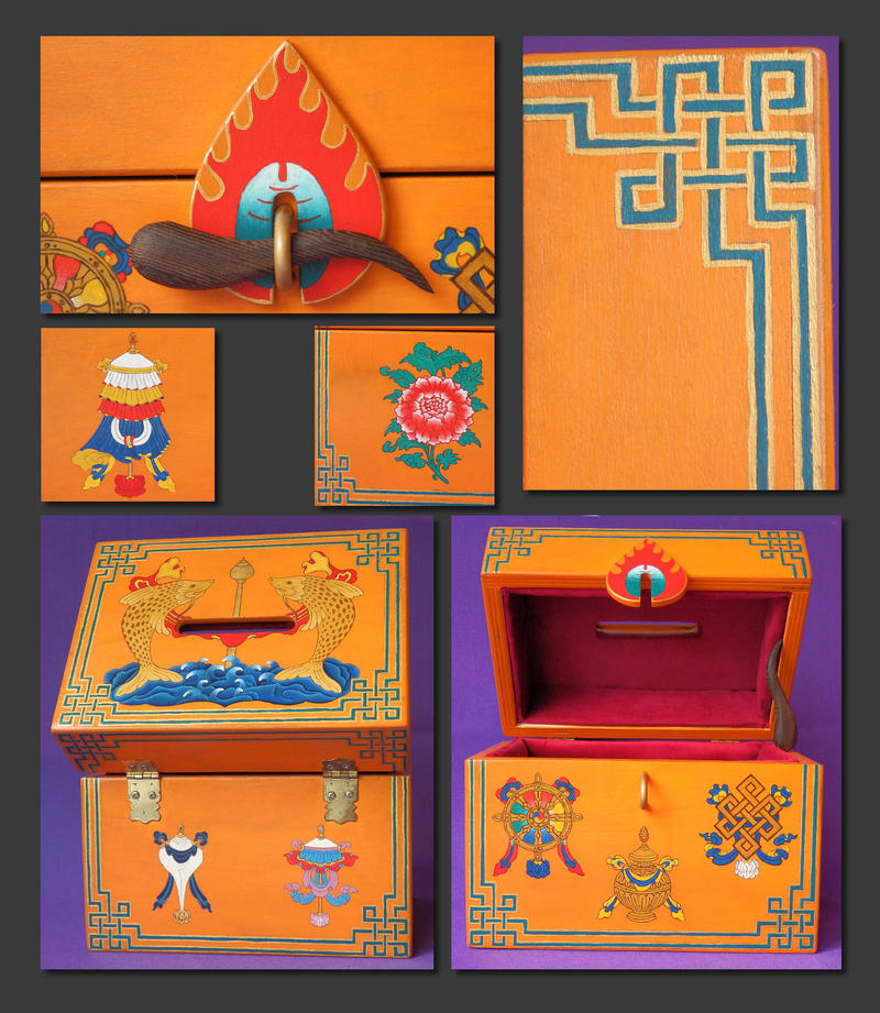 Tibetan Buddhist Donation Box by agapetos