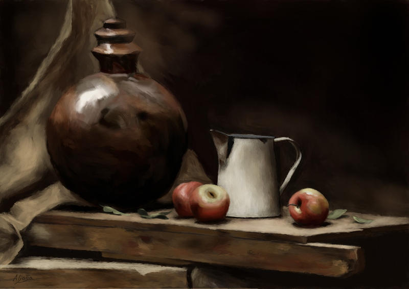 Master study of Still Life of Apples by agapetos