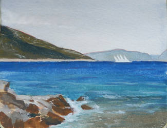 Cres, morning study by agapetos