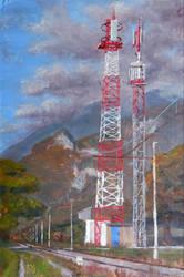 Cell Tower, en plein air