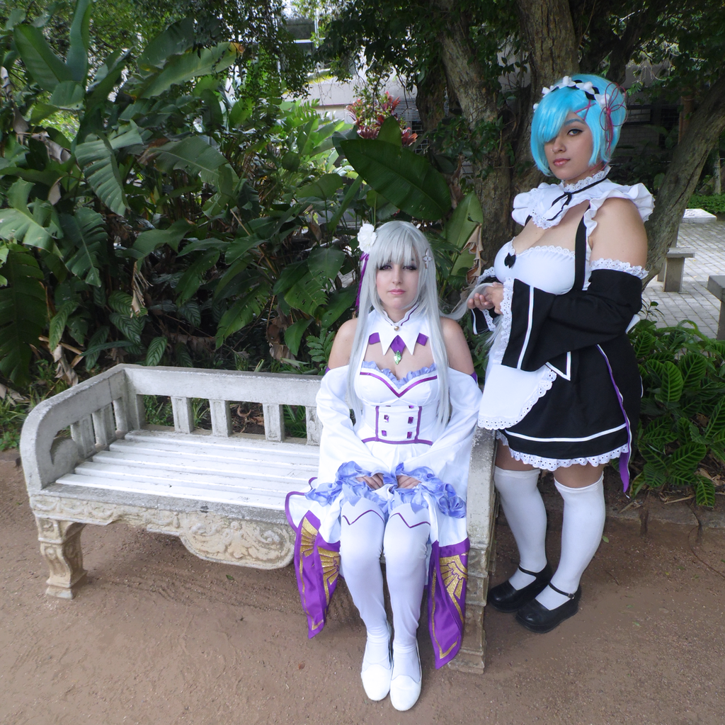 Rem And Emilia - Re:Zero by lunacosplayer