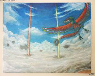 Skyward Sword canvas painting by SewYouPlushieThings