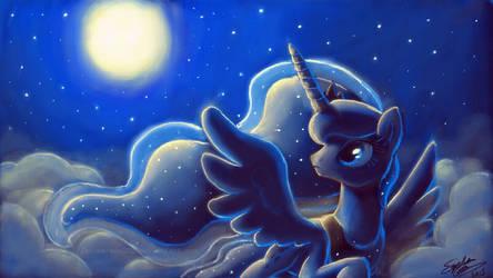 Art Academy Sketchpad: Luna by SewYouPlushieThings