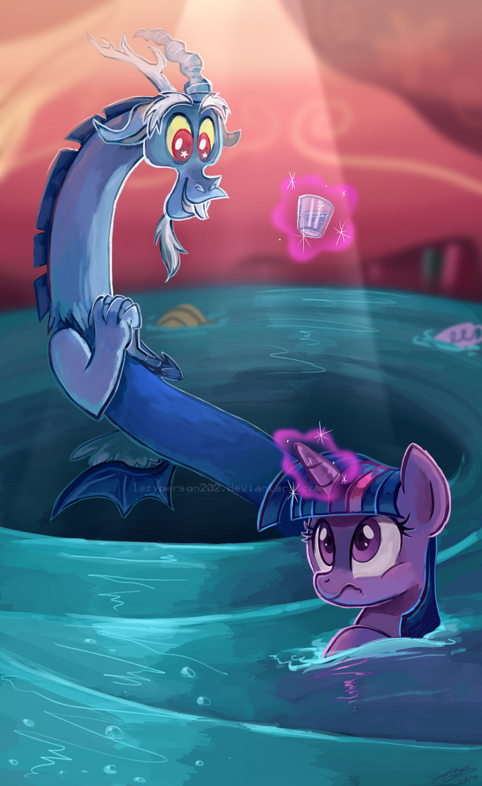 That Tiny Glass Of Water Please by lazyperson202
