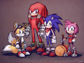 Sonic Boom alt sketches by SewYouPlushieThings