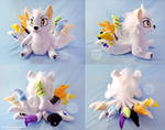 Ten Tailed Wolf OC Plush