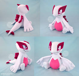 Shiny Lugia Plush by SewYouPlushieThings