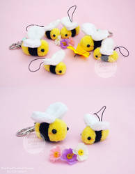 Chibees - Bumblebee Charms and Keychains by SewYouPlushieThings