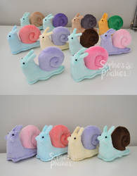 Custom Colour Snail Plushies by SophiesPlushies