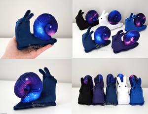 Galaxy Snail Plushies