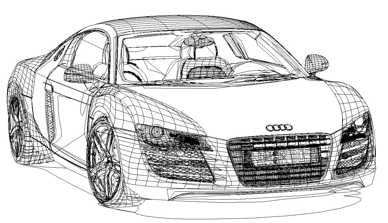 Audi R8 linework by LoinCandy