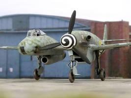 Messerschmitt Me 309 T-2 mixed propulsion fighter