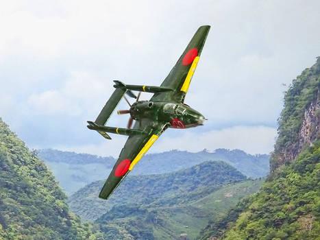 Yokosuka J1Y3 light fighter of the IJN, early 1945