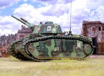 Char B1 tetre of the French Army Abbeville 1940