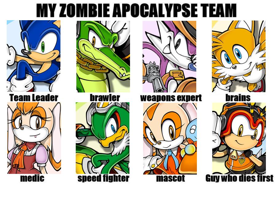 The Shade S Zombie Apocalypse Sonic Team By Powershade117 On Deviantart