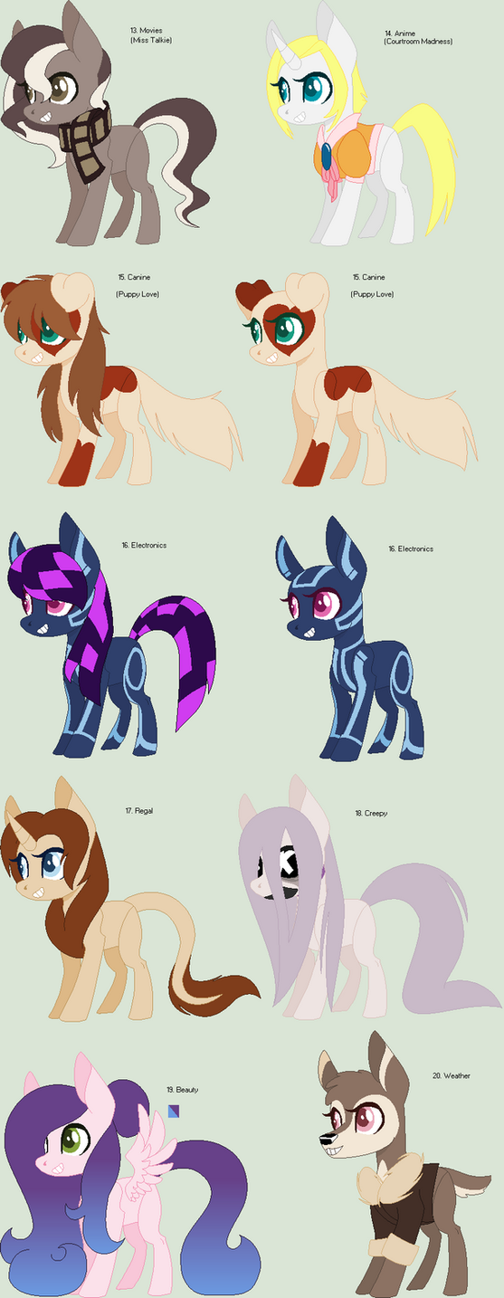100 Theme adopts 13-20 (OTA) by CheshireGrinAdopts