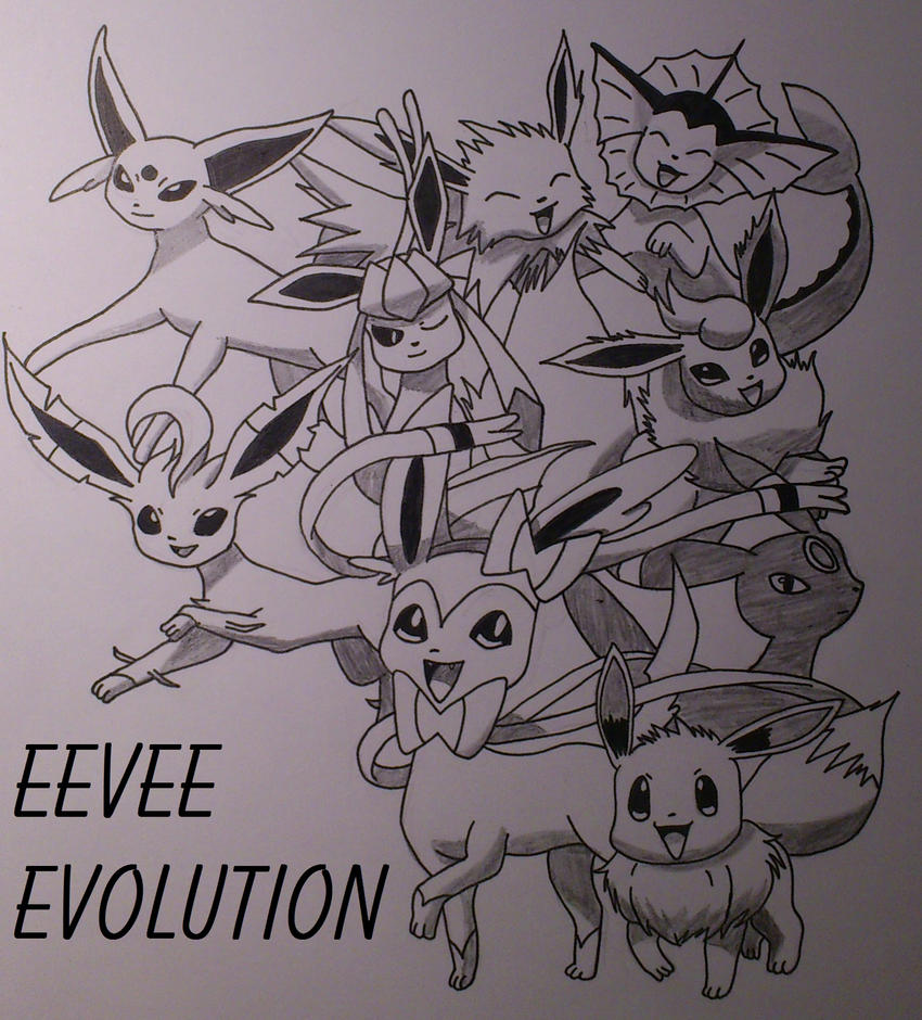 Pokemon eevee 39 s evolution by xbrotherxfezelx on deviantart for Pokemon eevee coloring pages