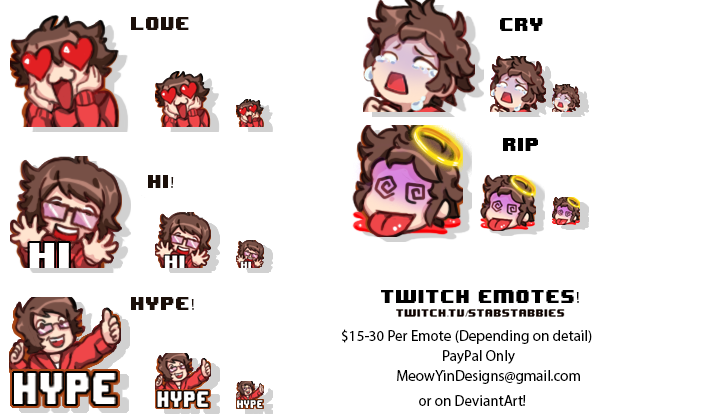 Twitch Emotes for StabStabbies by MeowYin on DeviantArt