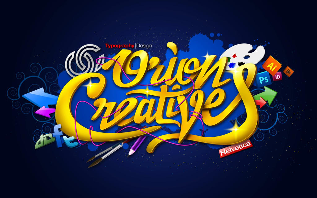 Orion Creatives theme typographic illustration by ~orionartist