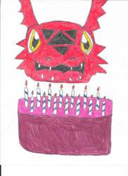 Happy 14th Birthday Guilmon by Classof2012