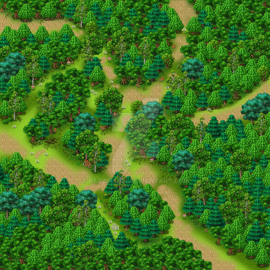 how to use the map in the forest game