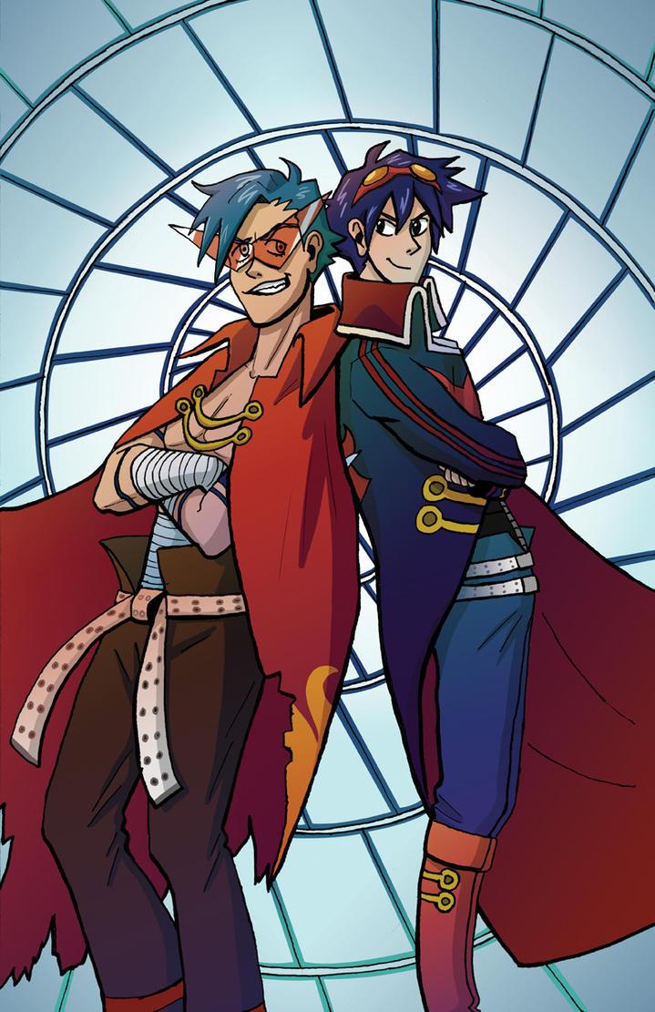 Kamina and Simon Poster by Noidatron