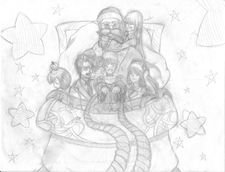 Umineko celebrates Xmas 8D by Dawn-Mayer